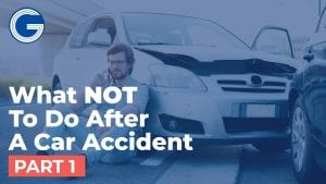 Do Not Admit Fault After a Car Accident